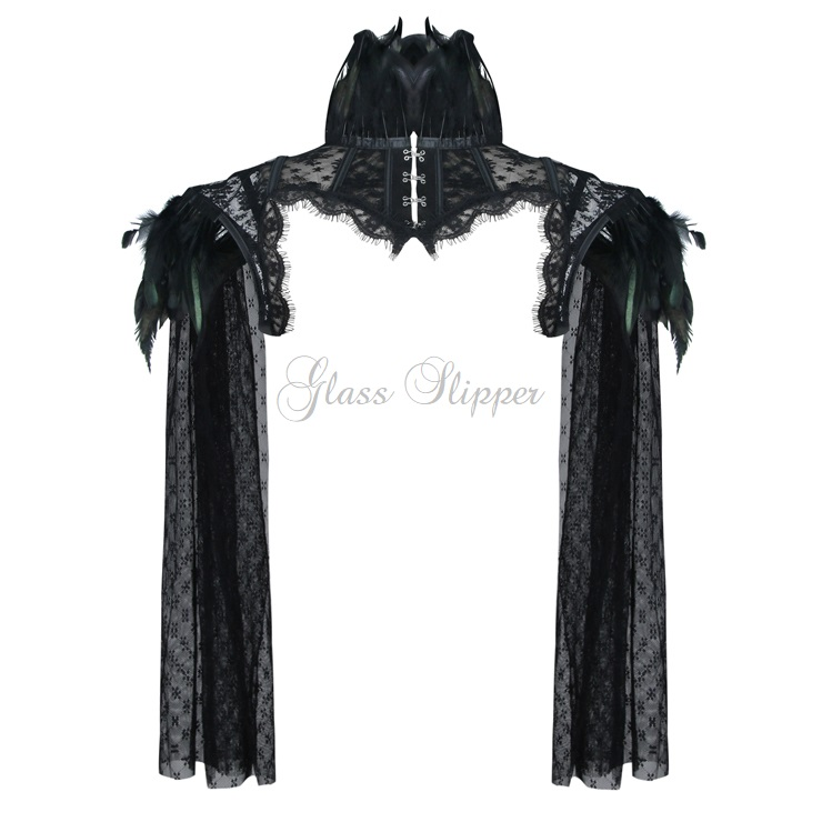 N-519597/STEAMPUNK FEATHERED CAPE/SML-2XL/R749.95