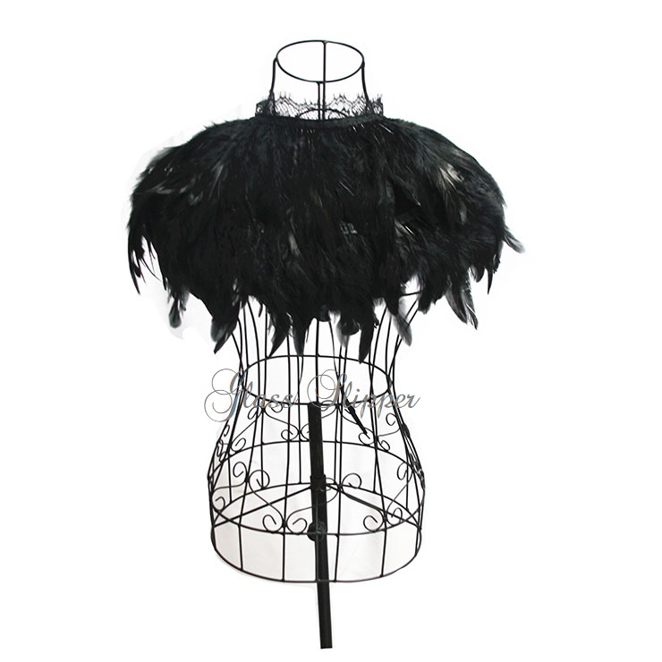 N-620200/VICTORIAN FEATHERED CLOAK/ONE SIZE/R595.95
