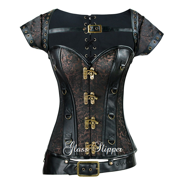 N-910951/STEAMPUNK STEEL BONE 3 PIECE CORSET/SML-2XL/R1495.95
