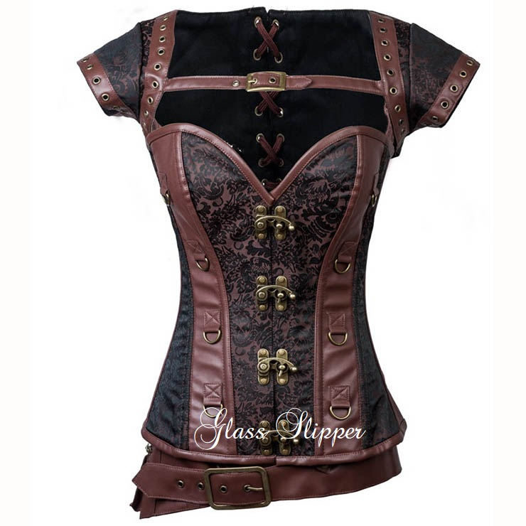 N710904/STEAMPUNK STEEL BONE 3 PIECE CORSET/SML-6XL/R1495.95