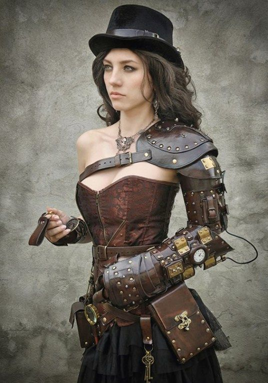 Steampunk-leather-girl