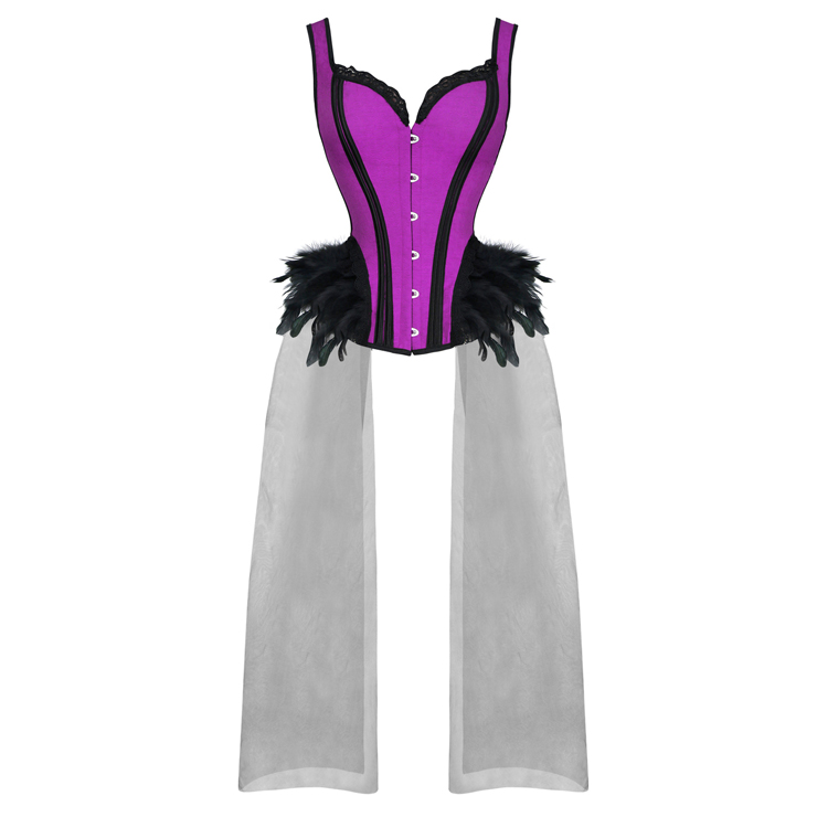 N-820231/FEATHERED PURPLE TAILS CORSET/SML-2XL/R995.95
